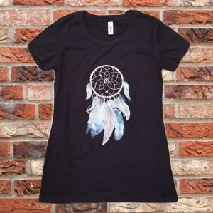 Tops - Native American Dream Catcher Blk Graphic T Shirt